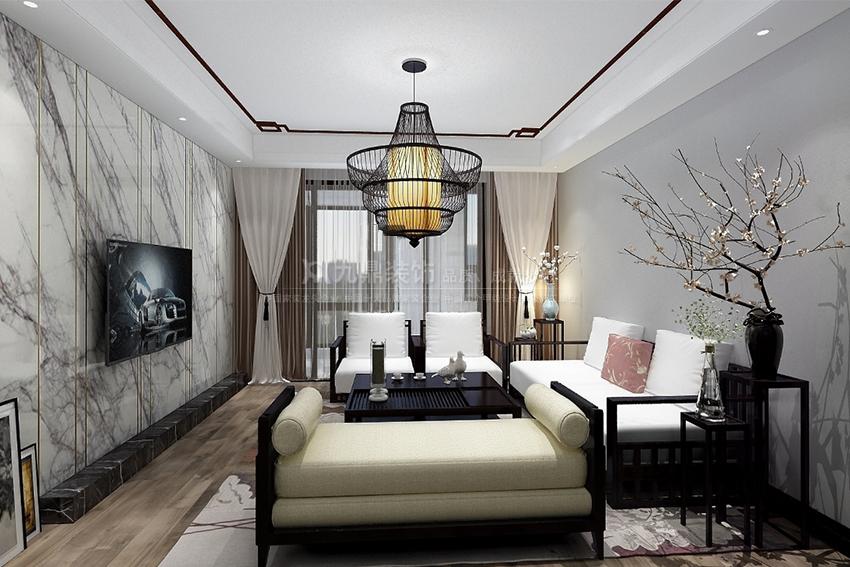 晶筑城200㎡新中式风格